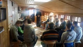 Посещение Отцом Филиппом нашего реабилитационного центра